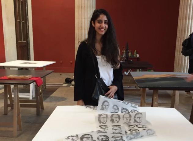Sara, 22 ans, syrienne, étudiante aux Arts Décoratifs
